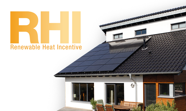 picture of a house hold on the renewable heating incentive plan with solar panel funding